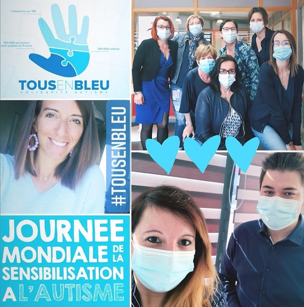 #TousEnBleu 💙 Voici la photo des équipes en cette journée mondiale de sensibilisation à l'#Autisme ! Et vous, l'avez-vous fait ? Pourquoi du bleu 💙 ?  Car cette couleur symbolise le rêve et la vie, parce qu'elle est douce et apaisante, et semble appréciée des personnes autistes qui connaissent souvent des troubles sensoriels.  #TousConcernés  Tous en bleu / Solidarité autisme
